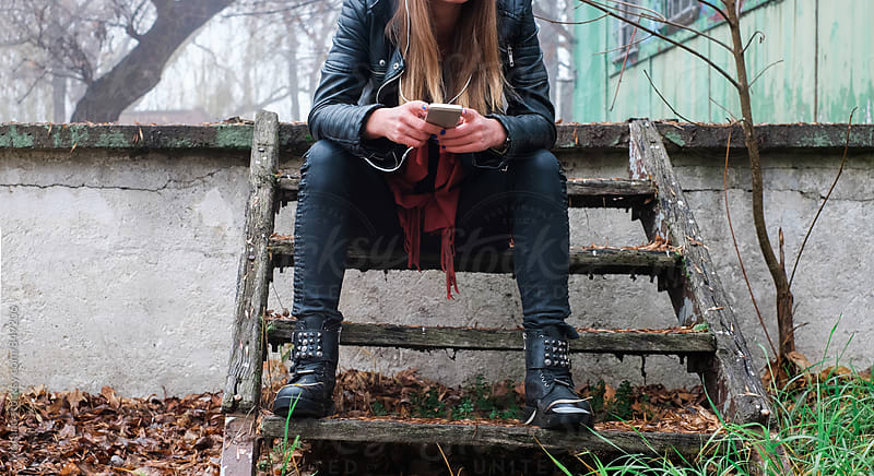 Anonymous Urban Girl Outside on a Foggy Day by Mosuno for Stocksy United