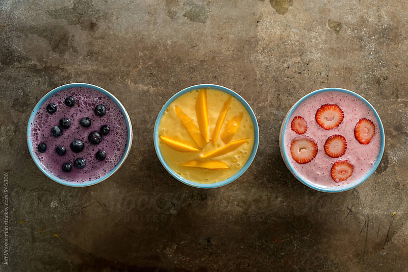 Fruit Smoothie Bowls by Jeff Wasserman for Stocksy United