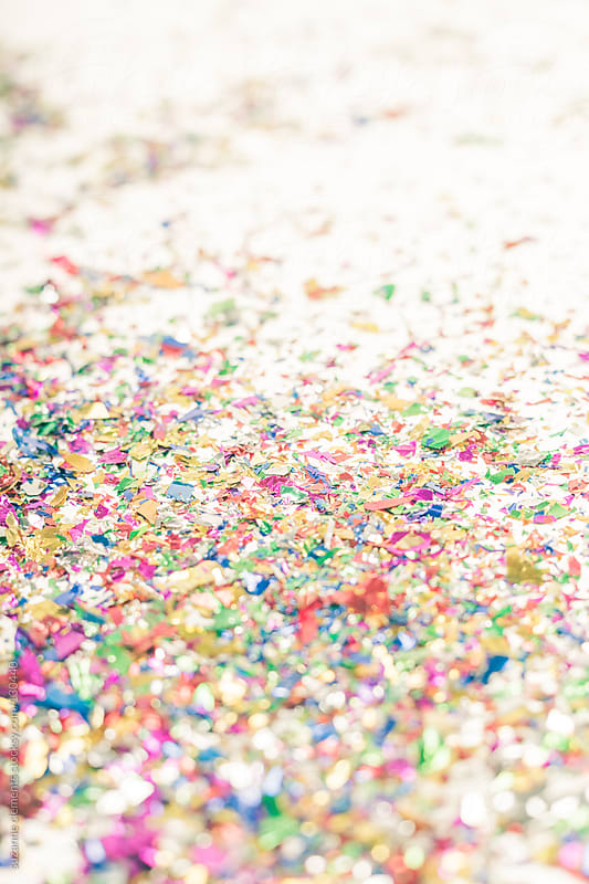 After the Party Ends Confetti on the Floor by suzanne clements for Stocksy United