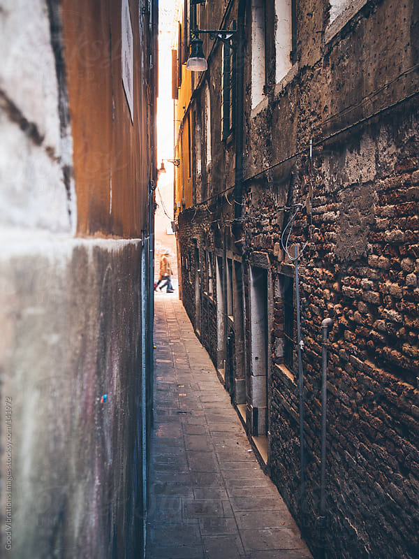 Alley in Venice by Good Vibrations Images for Stocksy United