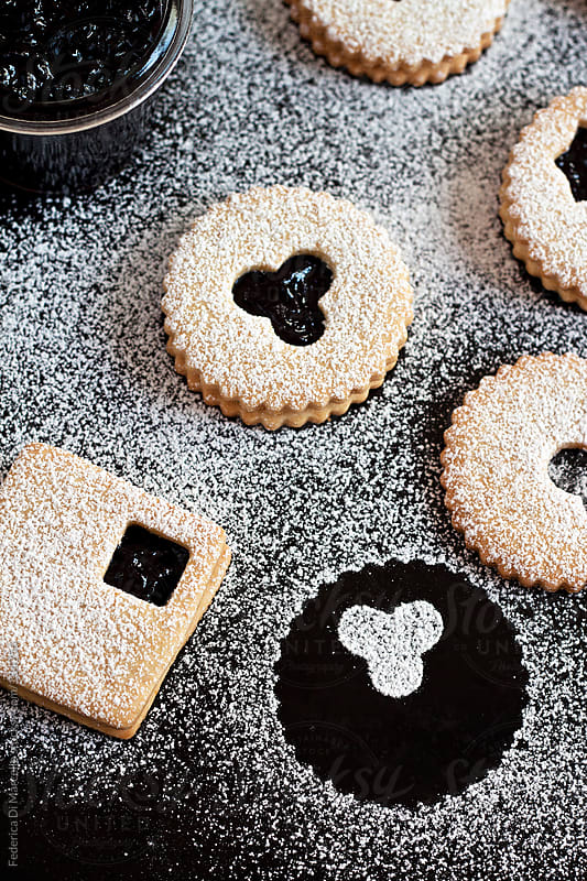 Linzer cookies by Federica Di Marcello for Stocksy United