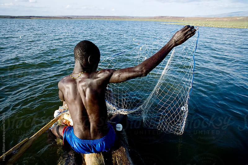 Fisherman on Lake Turkana. Kenya. Africa by Hugh Sitton for Stocksy United