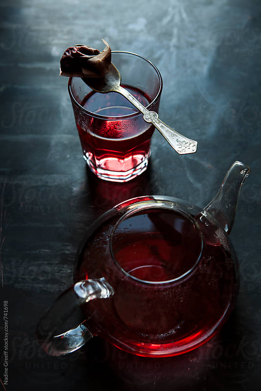 Hibiscus herbal tea by Nadine Greeff for Stocksy United