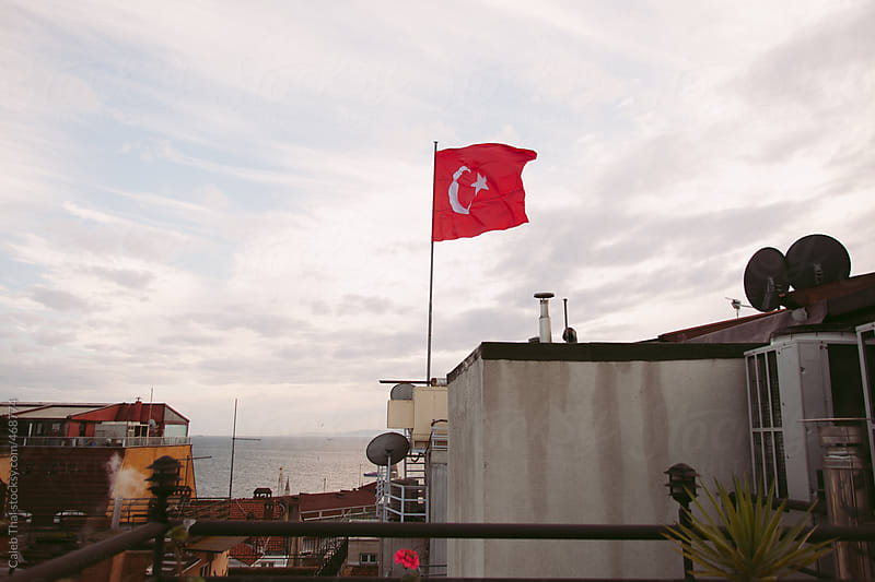 Turkish Flag in Istanbul by Caleb Thal for Stocksy United
