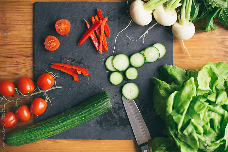 Fresh Vegetables on a Cutting Board by Lumina for Stocksy United