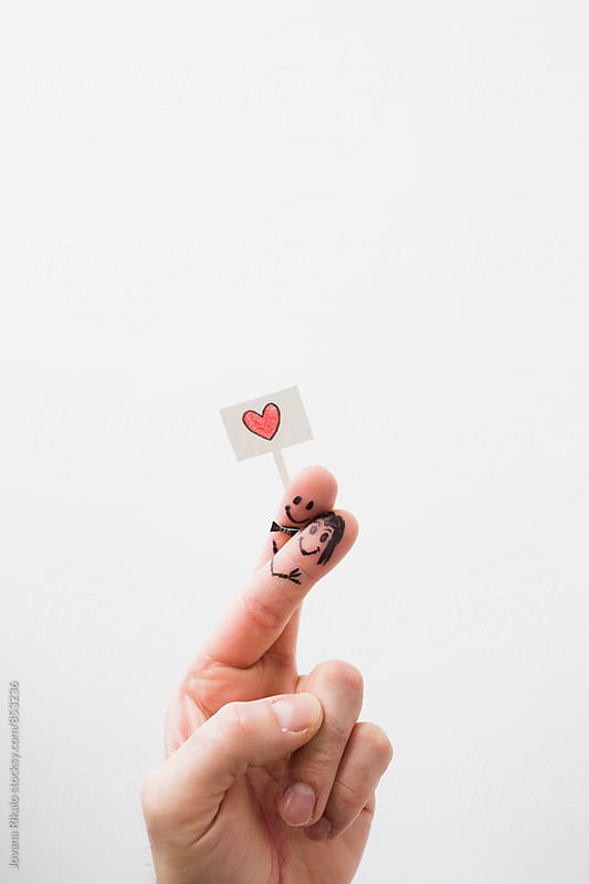 Smiley fingers in love by Jovana Rikalo for Stocksy United