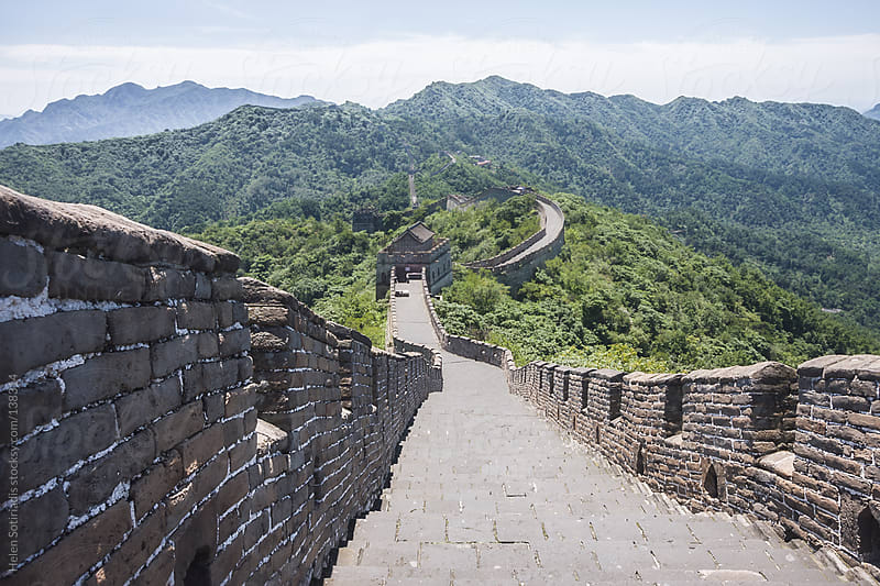 The Great Wall of China by Helen Sotiriadis for Stocksy United