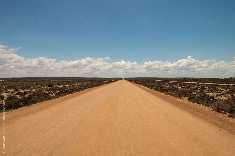 dirt road in outback australia by Gillian Vann for Stocksy United