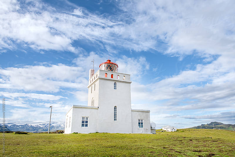 icelandic lighthouse by Andreas Gradin for Stocksy United