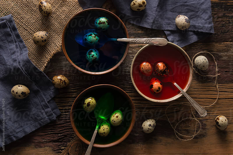 Coloring Quail Eggs For Easter by Jeff Wasserman for Stocksy United