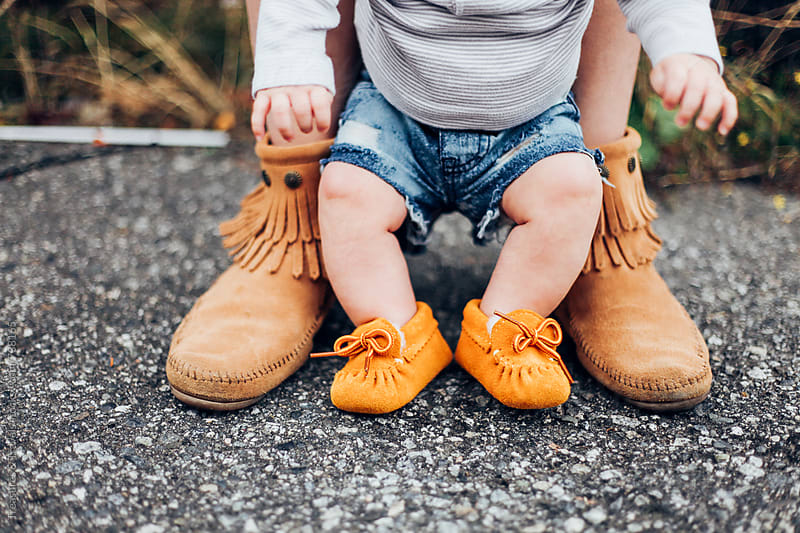 Baby and her Mother outdoors by Treasures & Travels for Stocksy United