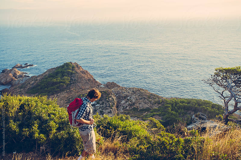 Man Hiking  by Aila Images for Stocksy United