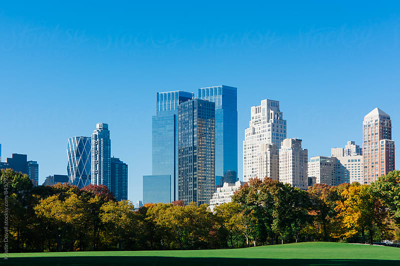 Central Park's Sheep Meadow in autumn. New York City. by Kristin Duvall for Stocksy United