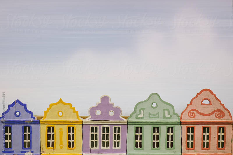 Colorful Houses Made of Paper by Aleksandra Jankovic for Stocksy United