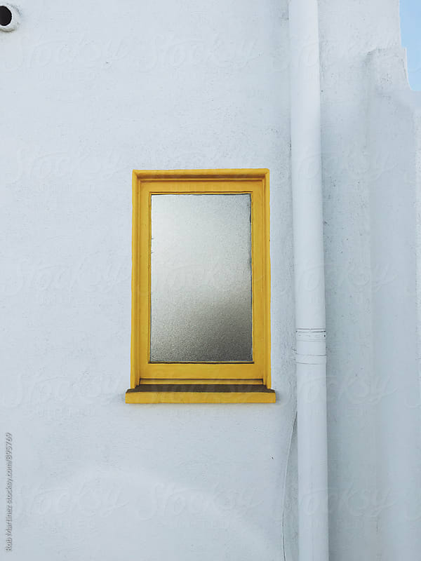 MINIMAL YELLOW WINDOW by Rob Martinez for Stocksy United