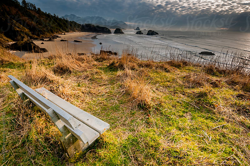 Bench with a View  by Caine Delacy for Stocksy United
