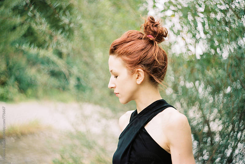 Redhead beauty outdoor by Alessio Bogani for Stocksy United