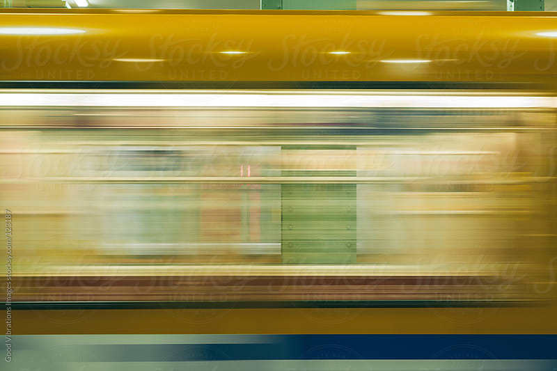 Underground Train in Motion by Good Vibrations Images for Stocksy United