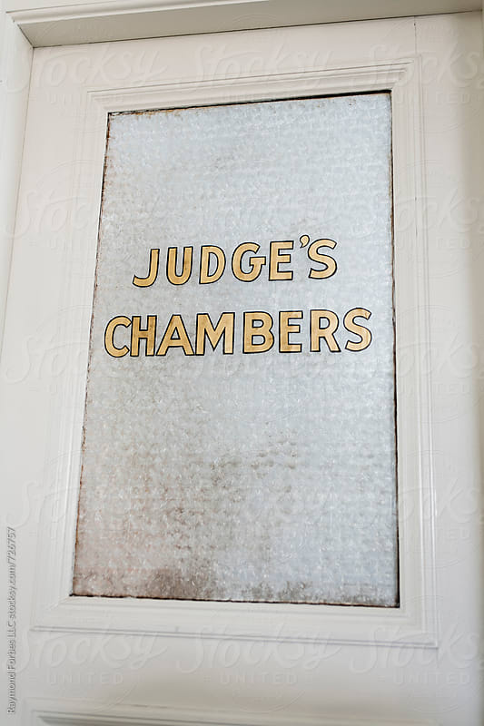 Judges Chambers in Court Room by Raymond Forbes LLC for Stocksy United