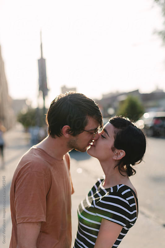 Lovely Couple in the streets of New York City by Good Vibrations Images for Stocksy United