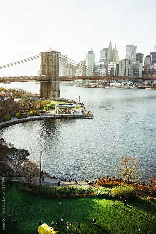 Brooklyn Bridge Park by Jorge Quinteros for Stocksy United