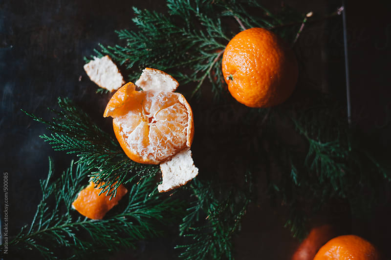 Tangerines in the winter by Natasa Kukic for Stocksy United