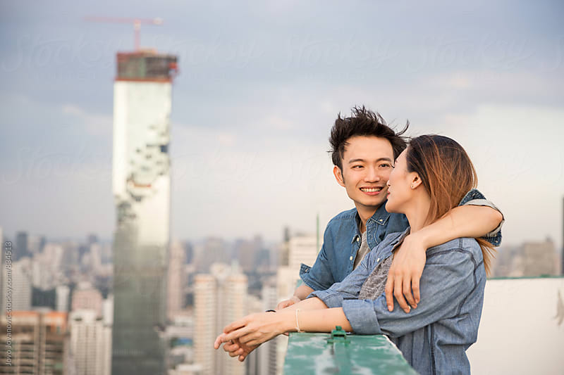 Beautiful young Asian couple in love  by Jovo Jovanovic for Stocksy United