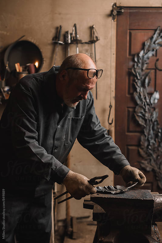 Blacksmith Portrait by Milles Studio for Stocksy United