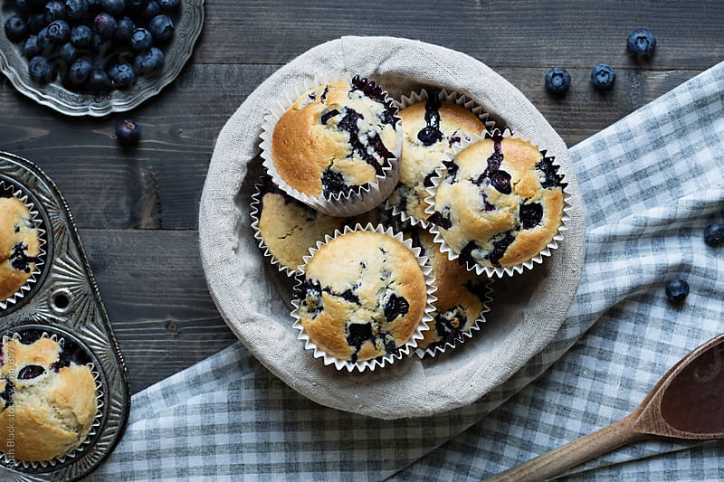 Blueberry muffins by Ruth Black for Stocksy United
