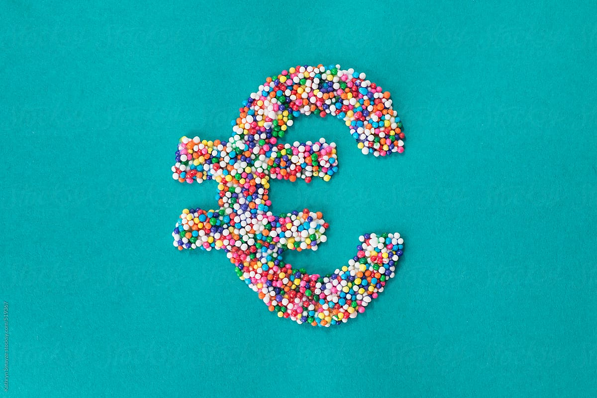 The Euro Symbol Built From Nonpareils Stocksy United
