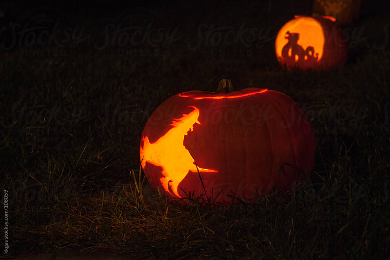 Halloween lantern outdoors by kkgas for Stocksy United