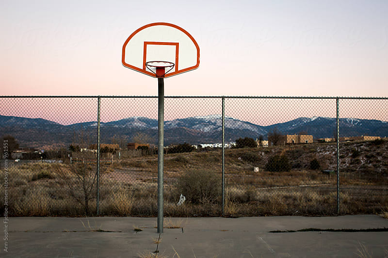 Basketball court  by Ann-Sophie Fjelloe-Jensen for Stocksy United