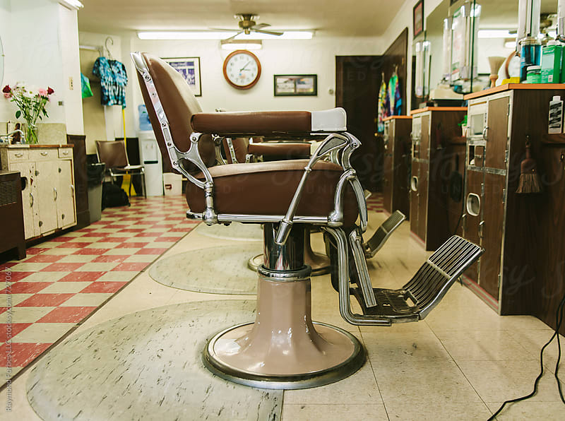 Barber Shop Chair by Raymond Forbes LLC for Stocksy United