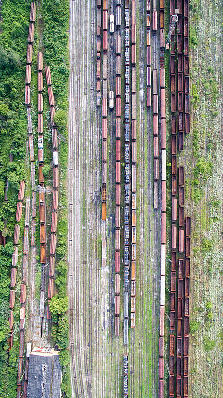 Classification/Marshalling yard overview by Pixel Stories for Stocksy United