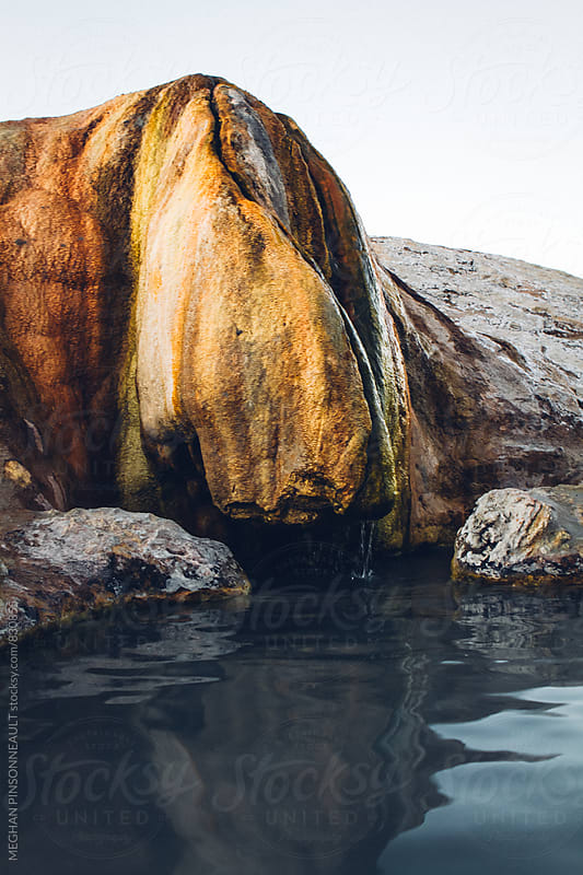 Natural Hot Springs with Unique Travertine Formations by MEGHAN PINSONNEAULT for Stocksy United