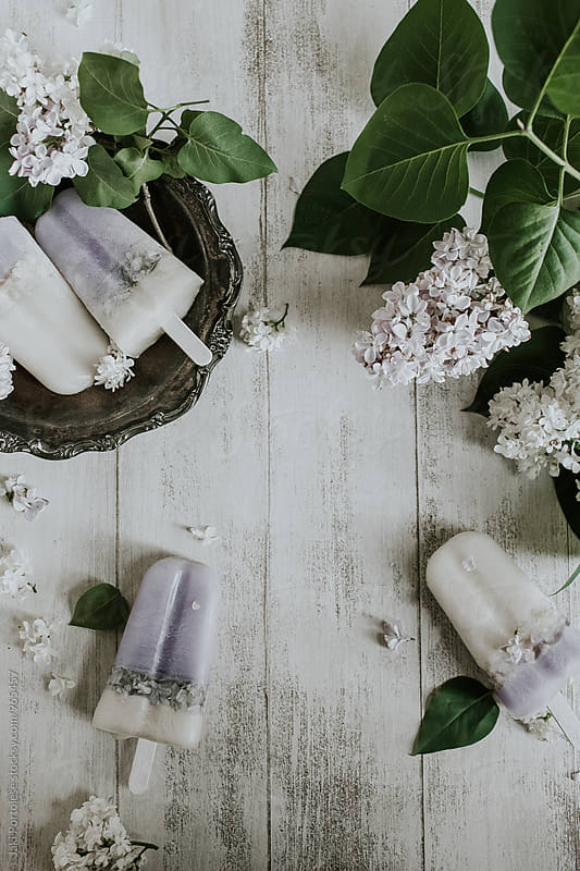 Almond lilac pops by Jaki Portolese for Stocksy United