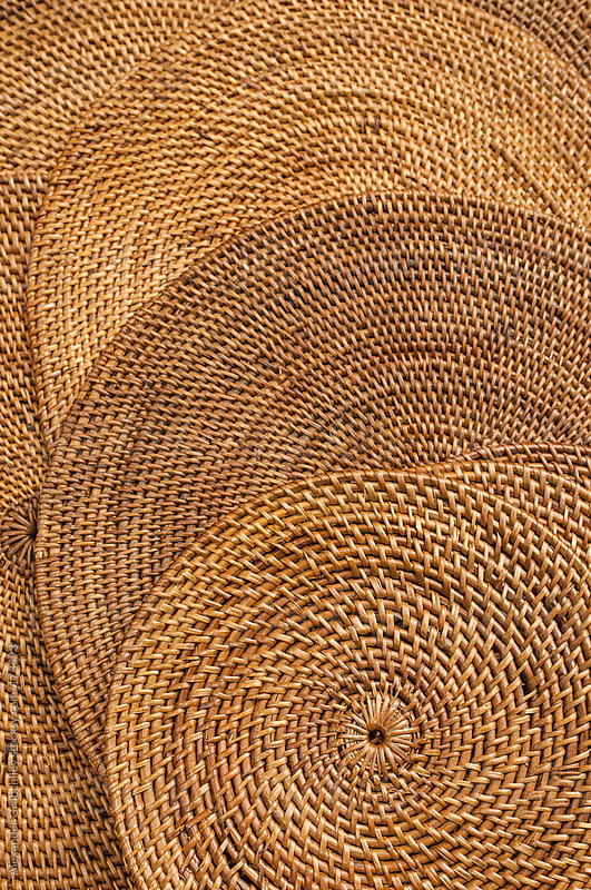 Round Wicker Basket Background by Alexander Grabchilev for Stocksy United