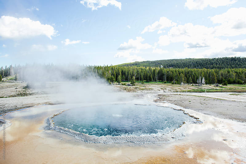 Landscape with hot spring water in Yellowstone National Park by michela ravasio for Stocksy United
