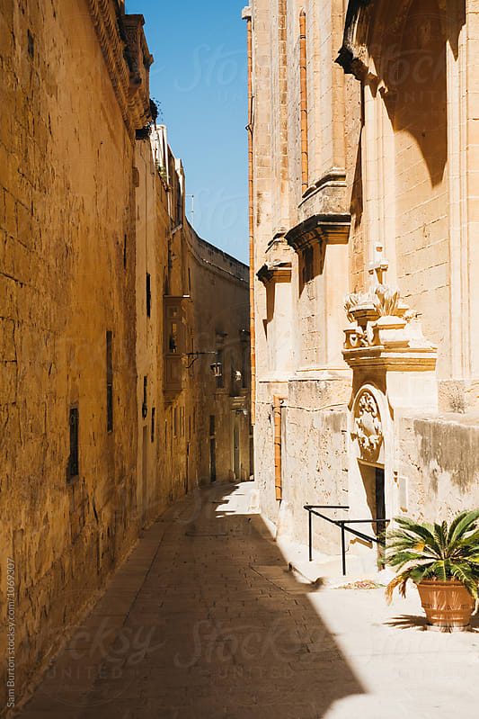 Backstreet in Mdina, Malta by Sam Burton for Stocksy United
