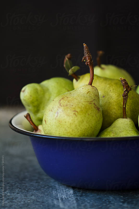 Freshly picked green pears by Dobránska Renáta for Stocksy United