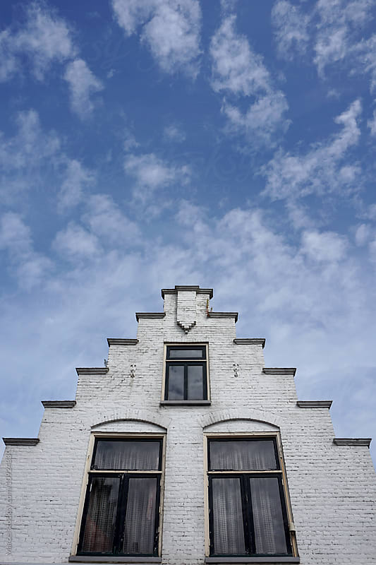 Collection of historical Dutch gables by Marcel for Stocksy United