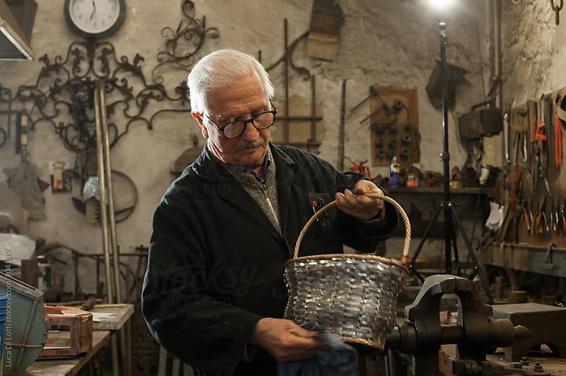 Blacksmith workshop, Italian craftsmanship. by Luca Di Lotti for Stocksy United