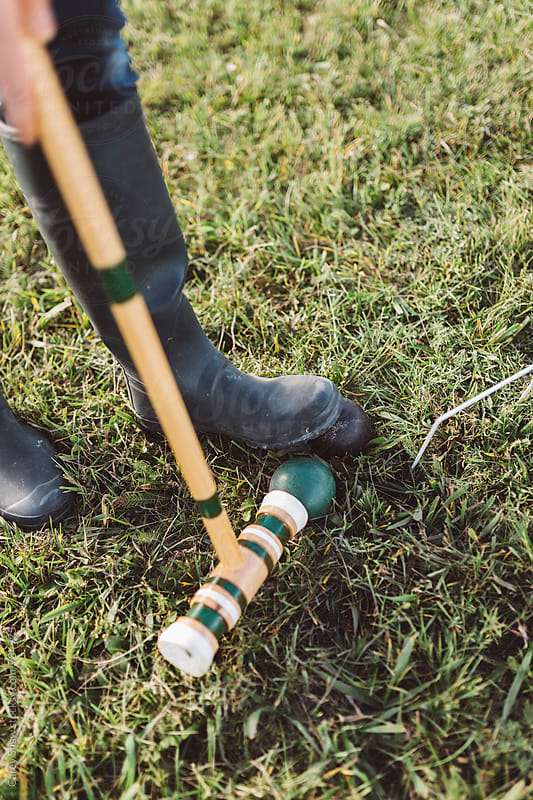 Detail of croquet game by Carey Shaw for Stocksy United