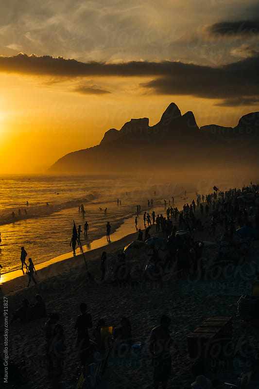 Seascape at Ipanema Beach, Rio De Janeiro. Brazil. by Mauro Grigollo for Stocksy United