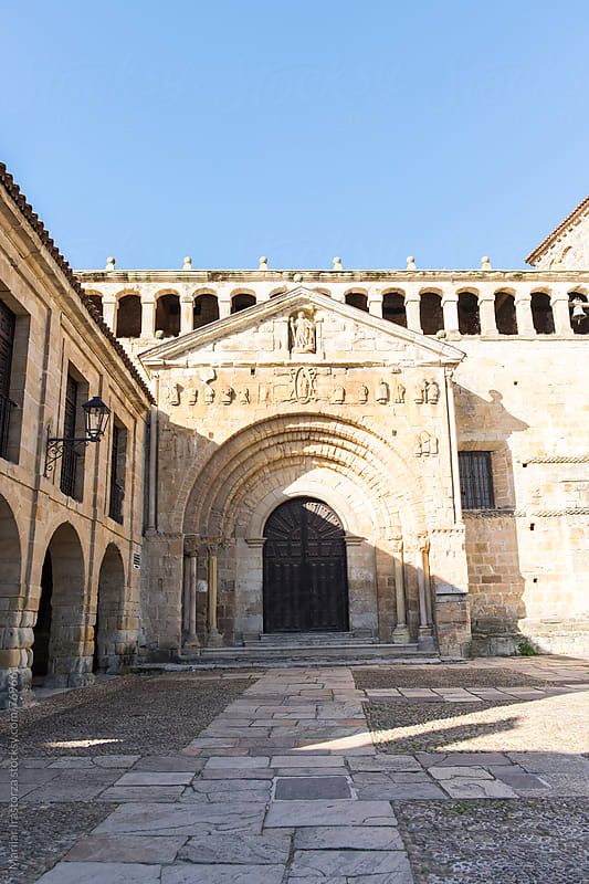 Romanesque collegiate church in Spain by Marilar Irastorza for Stocksy United