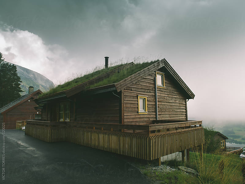 Norwegian Cabin by VICTOR TORRES for Stocksy United