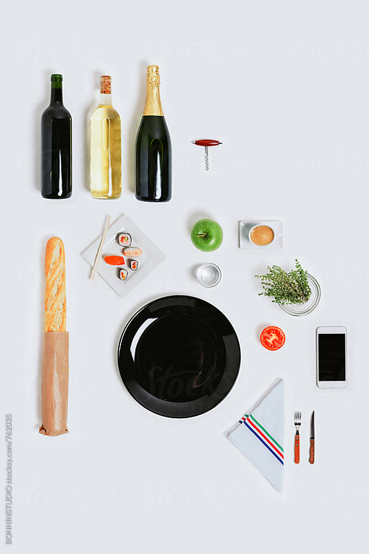 Meal mock up on white. by BONNINSTUDIO for Stocksy United