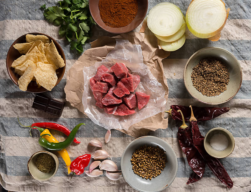 Texas Style Chili Ingredients by Jeff Wasserman for Stocksy United
