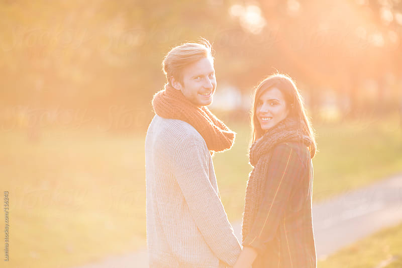 Couple in Love in Autumn by Lumina for Stocksy United