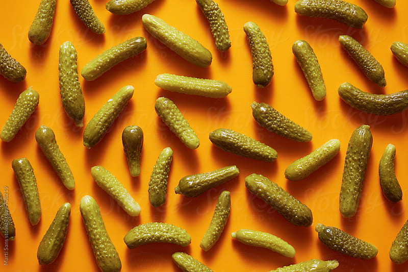 Pickled cucumbers by Martí Sans for Stocksy United